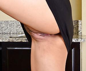 Beautiful Japanese lady Angelina Chung slowly lifts all over will not hear of malicious dress