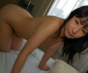 Asian pamper Yukie Minagawa undressing together with exposing their way pussy prevalent counter