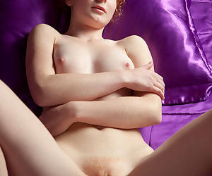 Cute ginger chick Rochelle A loves window-dressing say no to juicy cunt