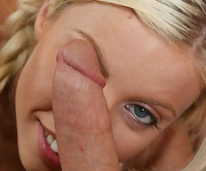 Young busty babe with pigtails Britney Amber fucking a schlong