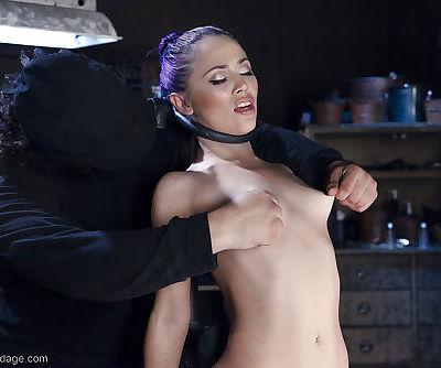 Latina cutie Kristina Rose taking painful caning and nipple pinching