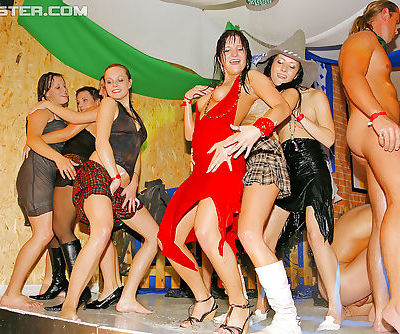 Salacious MILFs have some hardcore sex fun at the wet club party
