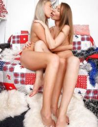 Frolic teenage lesbians have some kissing and ass licking fun