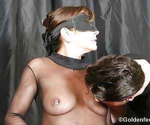 Hot close ups featuring pierced vagina of UK fetish model Lady Sarah