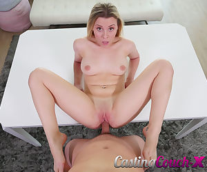 Naked amateur Aubrey Sinclair fucked hard during casting couch audition