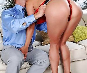 Asian Milf Mia Lelani gets arse fucked in high heels and lingerie