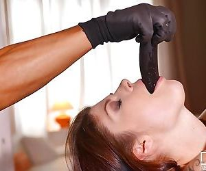 Rope bound MILF Lucia Love penetrated vaginally and anally with sex toys