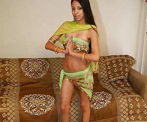 Filthy indian babe on high heels uncovering her fuckable body