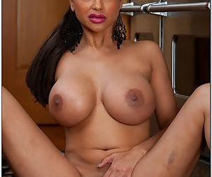 Busty indian wife Priya Anjali Rai stripping from sexy lace lingerie
