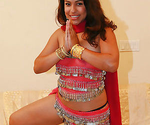 CHubby indian chick uncovering her nice jugs and shaggy pussy