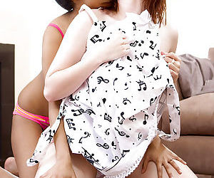 Interracial lesbian sex with young amateur girls Kiki and Ren