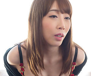 Sweet Japanese girl with nice tits gives the most amazing handjob
