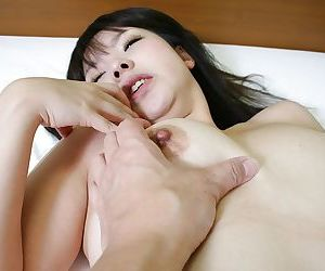 Asian gal exposes her creampied cunt in close up after sensual fucking