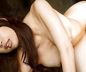 Hot asian bombshell Risa Kasumi showcasing their way elegant curvings