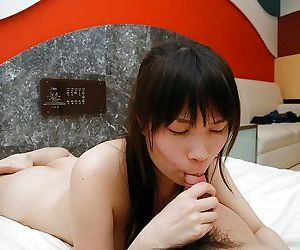 Asian MILF gives a zoological blowjob and enjoys passionate twatting