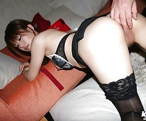 Cuddly asian let slip by gets screwed and takes a cumshot in the brush charming mouth