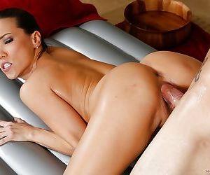 Petite Oriental MILF Kalina Ryu giving the sexiest nuru massage ever