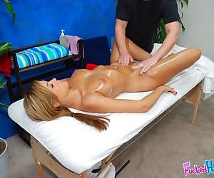 Young slut with big tits enjoys a professional massage and hot fucking