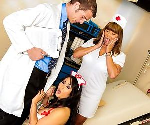 Asian nurse Jessica Bangkok gets hot meat injection at doctor's office