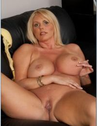 Fat mature office babe Karen Fisher shows you all of her curves