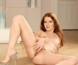 Small breasted redhead lena fancy toying her sopping pussy! - part 195