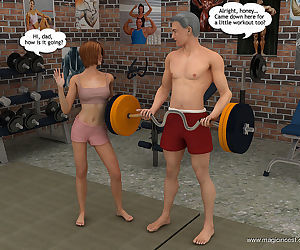 Magic Incest - Alice helps dad to be in shape