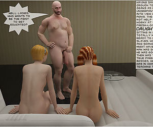Vicious sisters fucked by daddy - part 2
