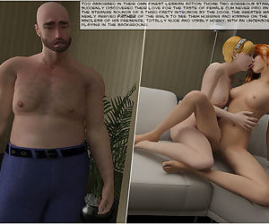 Vicious sisters fucked by daddy