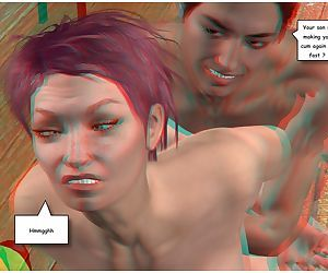 Posing for my mother 3d anaglyph version - part 5