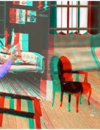 Posing for my mother 3d anaglyph version